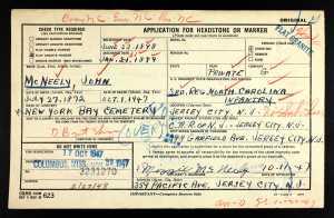 U.S.HeadstoneApplicationsforMilitaryVeterans1925-1963ForJohnMcNeely