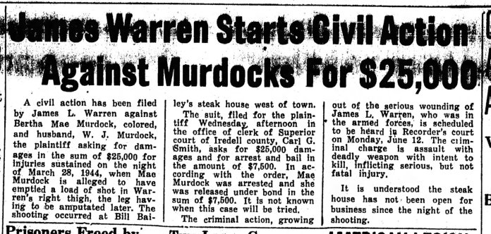Murdock Civil Action 11 May 44 R and L
