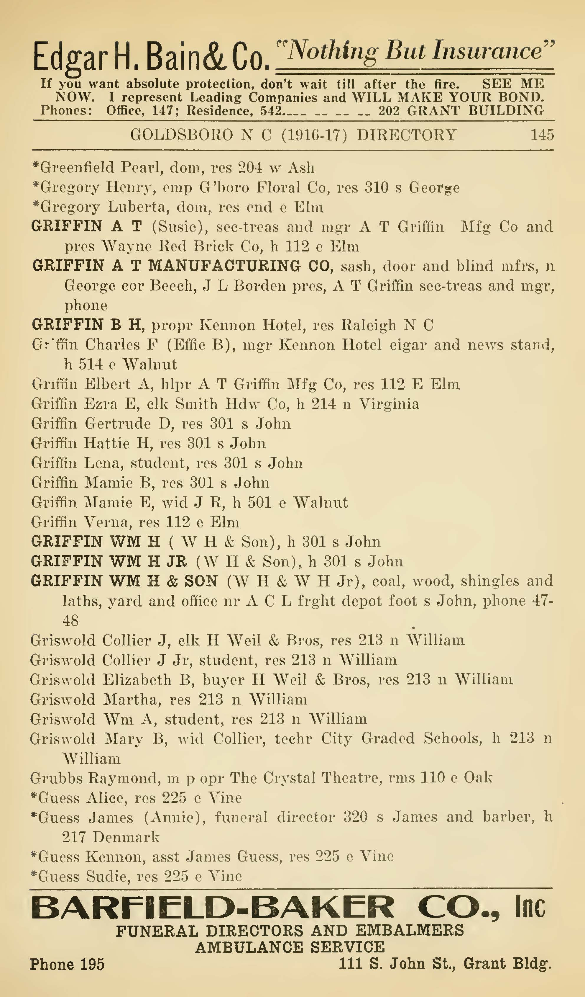 paternal kin genealogy page  image goldsboro