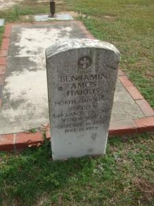 ARTIS -- Benjamin A Harris headstone