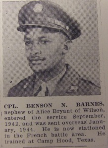 BARNES -- Cpl Benson Barnes Photo
