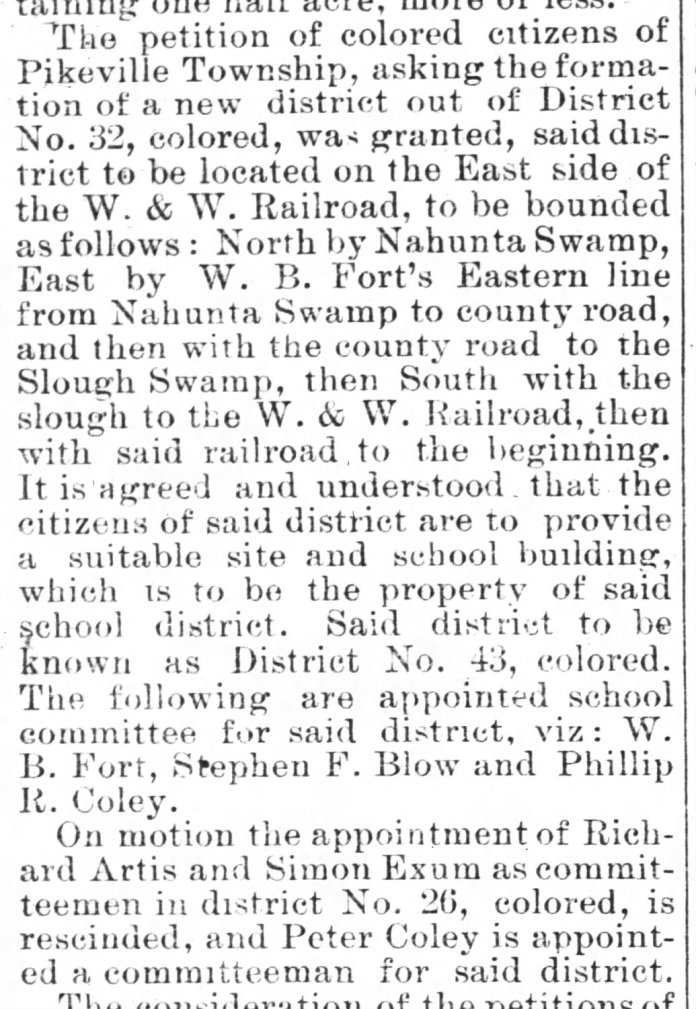 Gboro Messenger 11 19 1885 school commr
