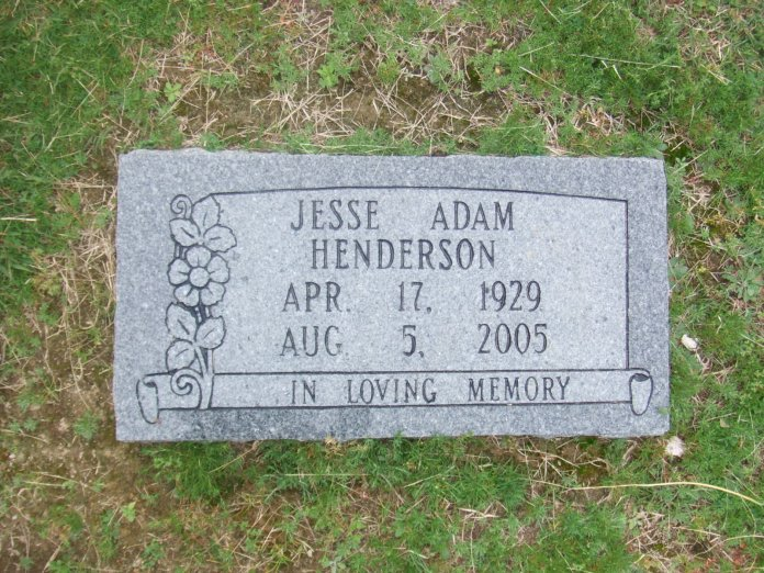 Jesse A Henderson headstone