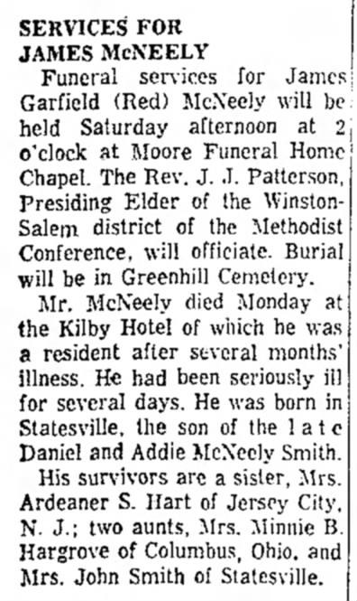James G McNeely 21 October 1960 HP Enterprise