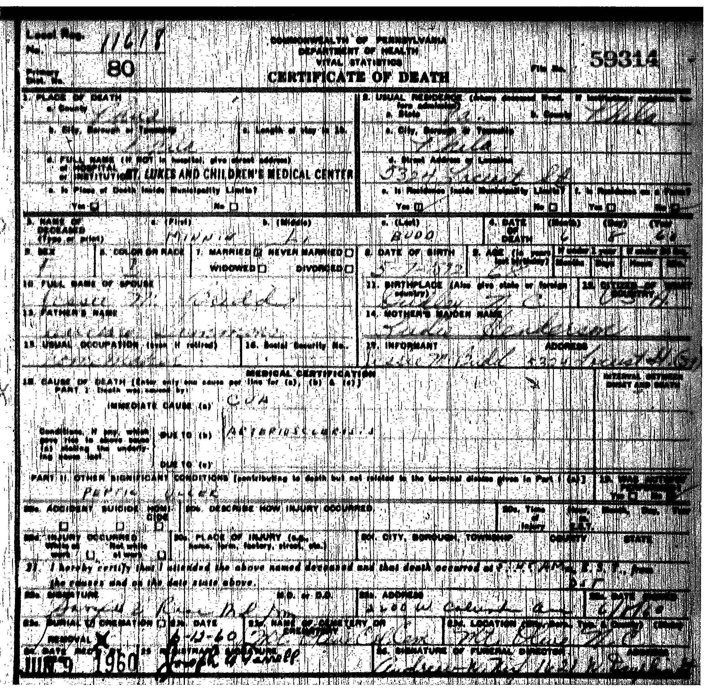 Death certificate scuffalong genealogy simmons minnie budd death cert 1betcityfo Images
