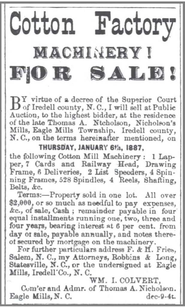 WS_Western_Sentinel_12_9_1886_T_Nicholson_sale