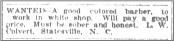 Charlotte_Obs_3_7_1907_Colvert_wanted_ad