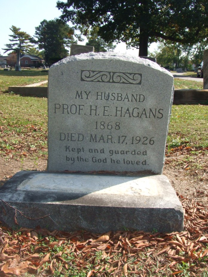 HAGANS -- HE Hagans headstone