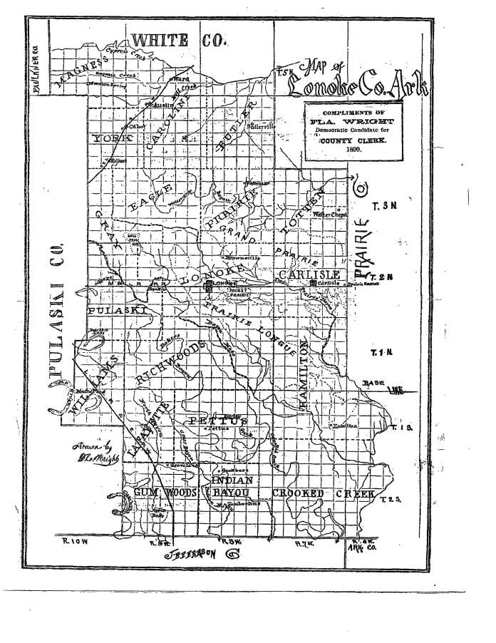 Lonoke County Map