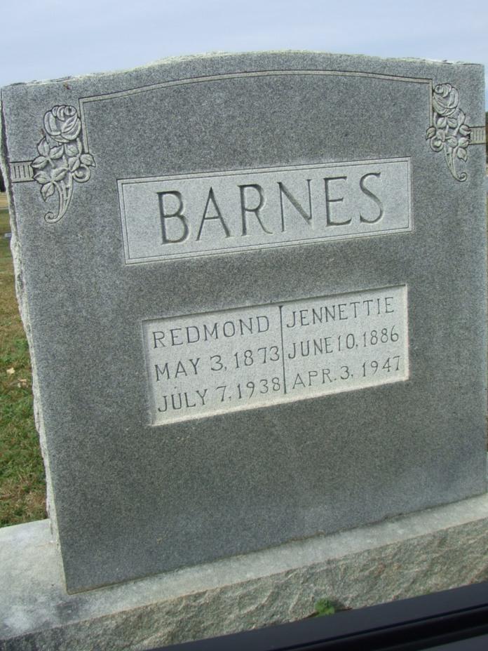 BARNES - Redmond & Jenette Barnes headstone