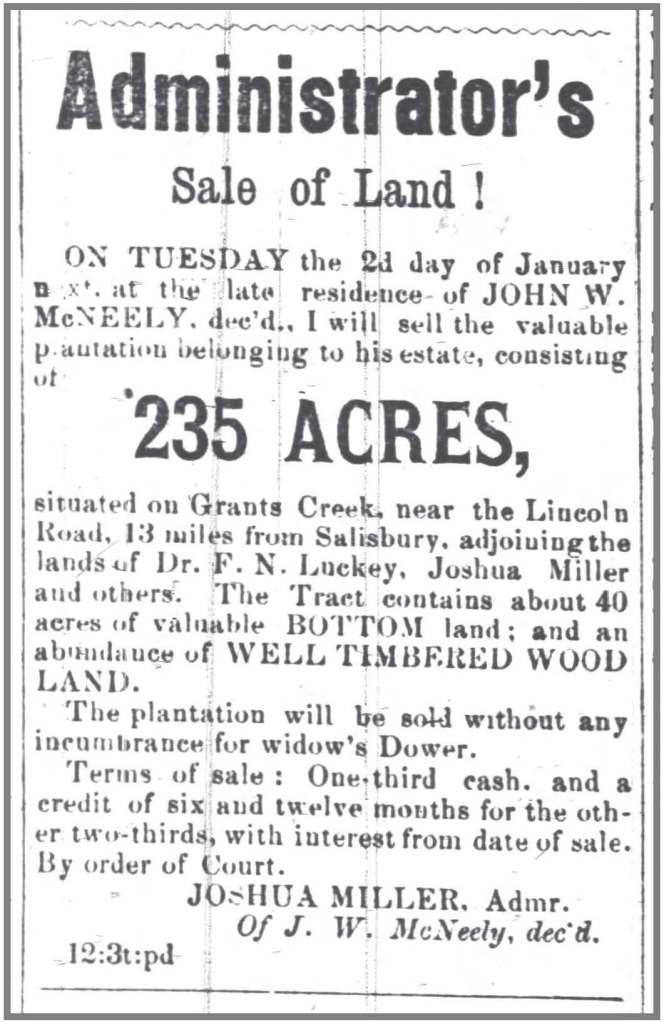 Carolina_Watchman_12_8_1871_Notice_Sale_JW_McNeely_land