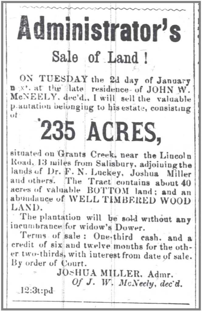 Carolina_Watchman_12_8_1871_Notice_Sale_JW_McNeely_land