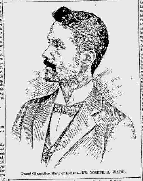 Joseph H Ward Grand Chancellor Ind Freeman 7 22 1899