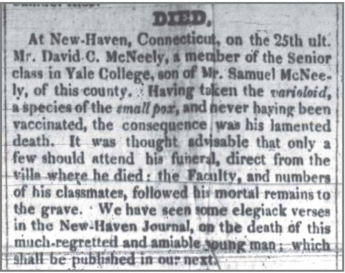 Western_Carolinian_4_22_1828_death_of_David_McNeely