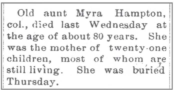 Wilkesboro_Chronicle_1_3_1900_Myra_Hampton