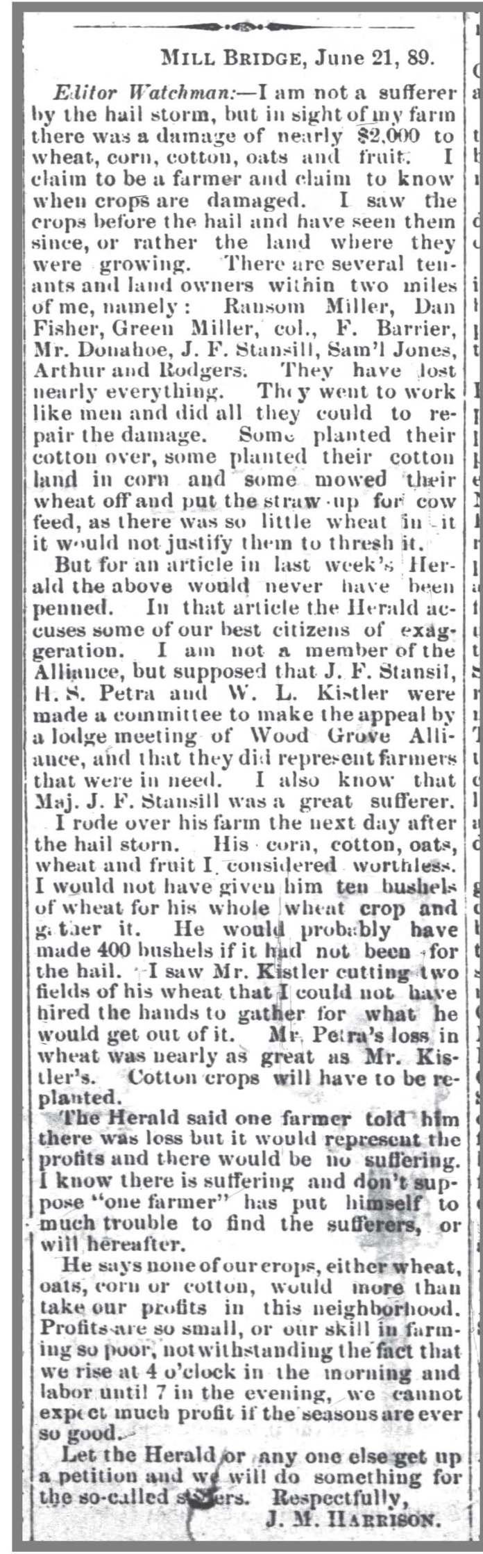 Carolina_Watchman_6_27_1889_hailstorm_ransom_miller