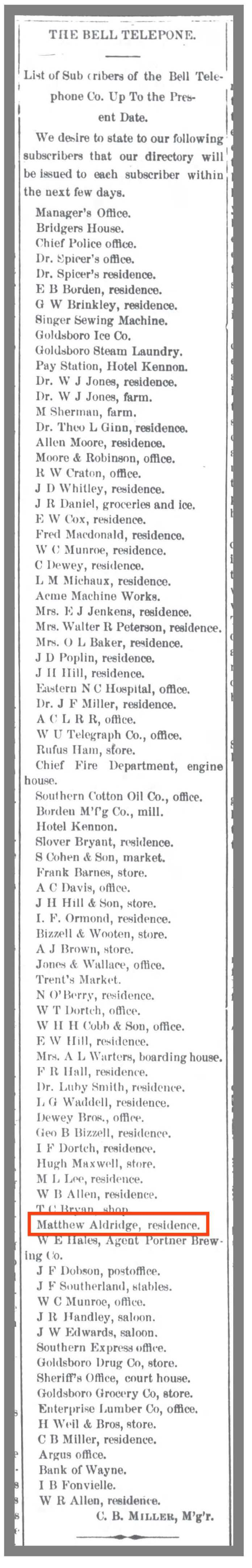 Gboro_Daily_Argus_4_10_1903_telephone