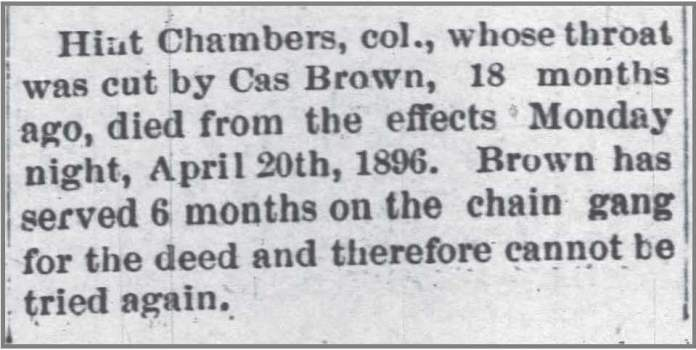 Salisbury_Truth_4_23_1896_Cas_Brown_throat_slit