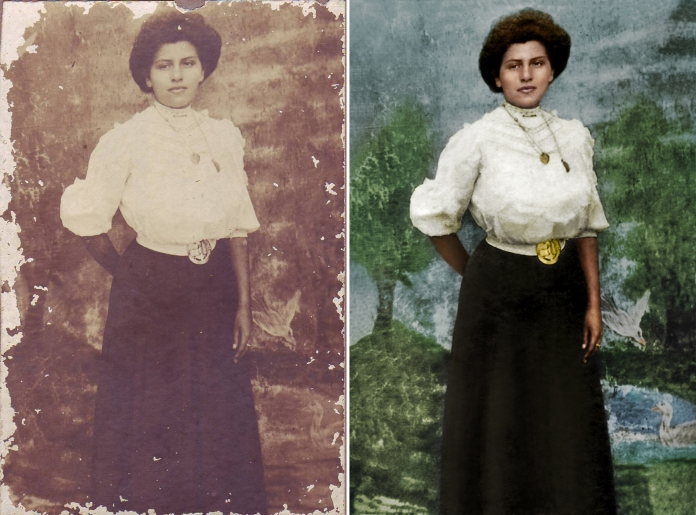 Bessie Henderson 001 - before after side by side-2