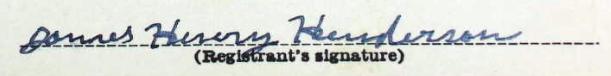 James Henry Henderson Sig
