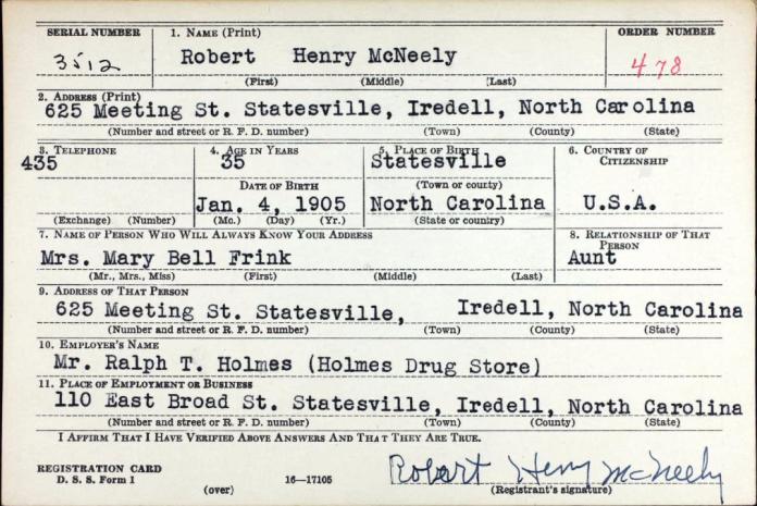 RHMcNeely WW1