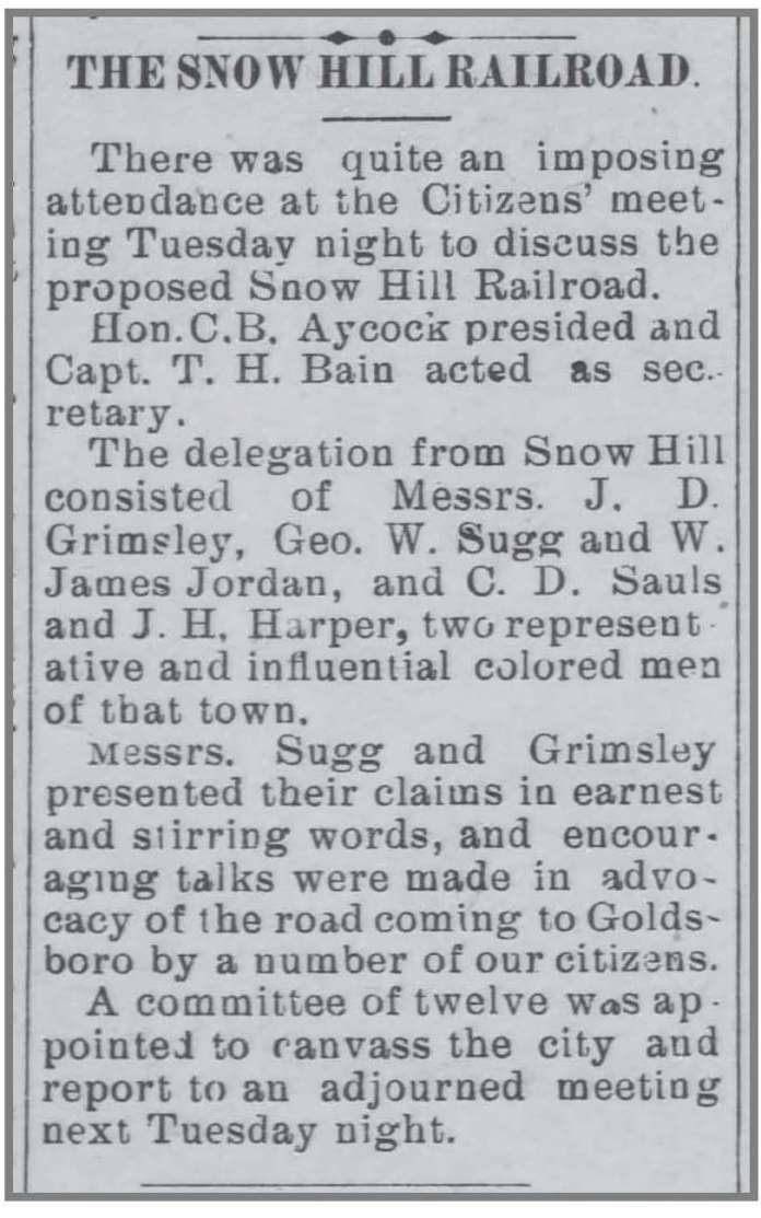 Goldsboro_Weekly_Argus__4_15_1897_CD_Sauls_Snow_Hill_RR (1)