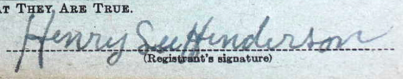 Henry L Henderson Sig