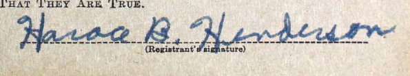 Horace B Henderson Sig