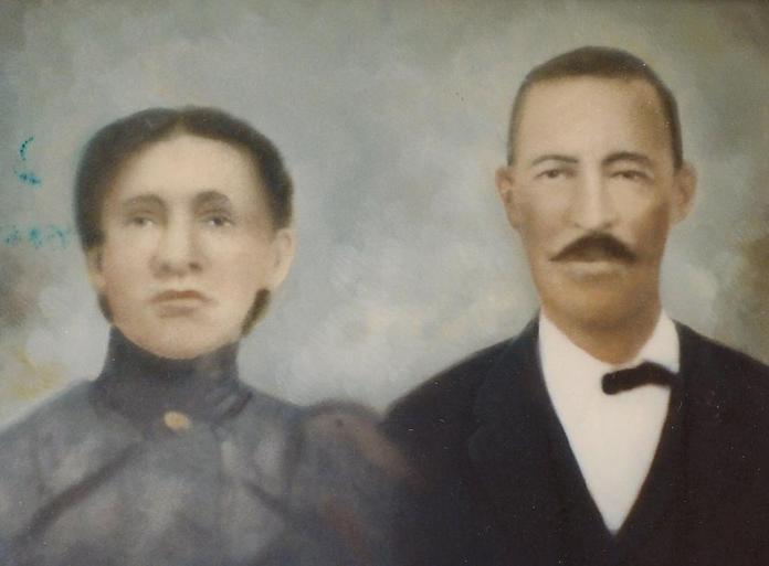 John & Sarah Henderson Colorized