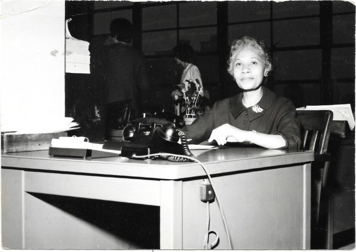 Evelyn Kiner at work