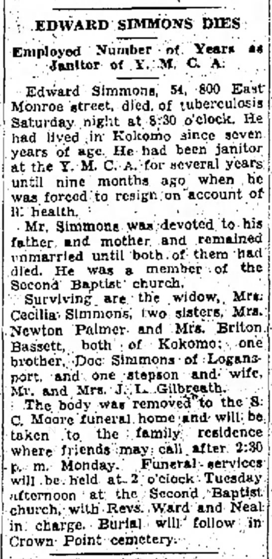 Koko Trib 4 13 1936 Ed SImmons obit